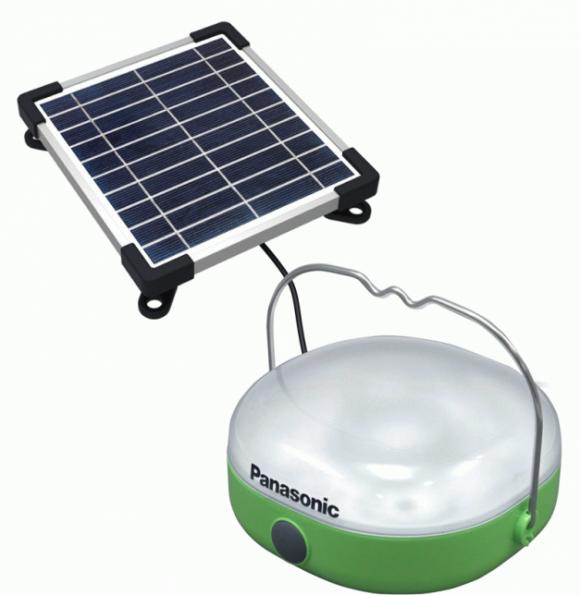 Světlo pro delší den přináší solární lampy od Panasonic. Zdroj: Panasonic.net