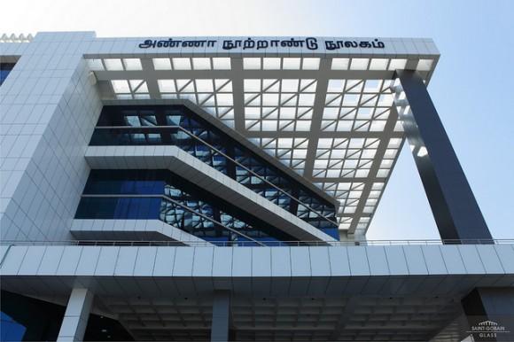 Indie může být hrdá - největší knihovna v celé  Asii a současně ekologicky šetrná budova stojí v provincii Tamil Nadu. Zdroj: crn.co.in