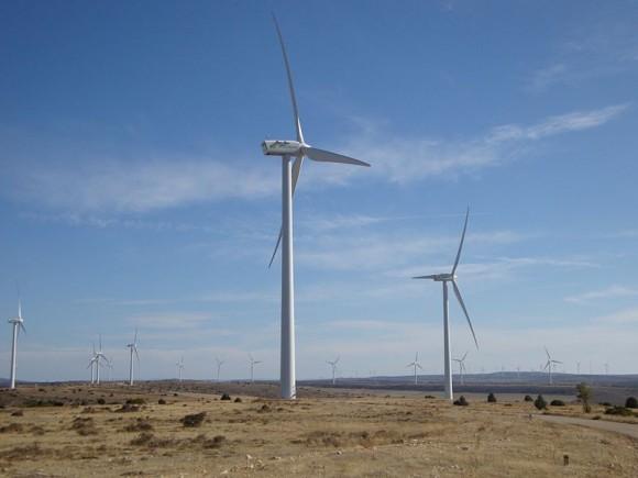 Větrný park Maranchon ve Španělsku je jedním z největších v Evropě, foto: Jfga, wikipedia, licence Creative Commons 3.0 Unported
