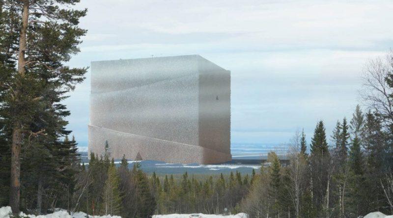 Gigantická hypotetická dřevobanka Bank of Norrland má tvar krychle o hraně délky 1 km. foto: Anders Berensson Architects