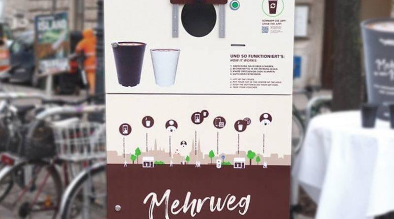 Automat na vratné kelímky ve Vídni © www.mycoffeecup.at