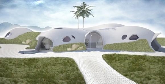 """""""Jednoduché bydlení, které vyniká inovativním stavebním postupem. Zdroj: Binishell.com"""