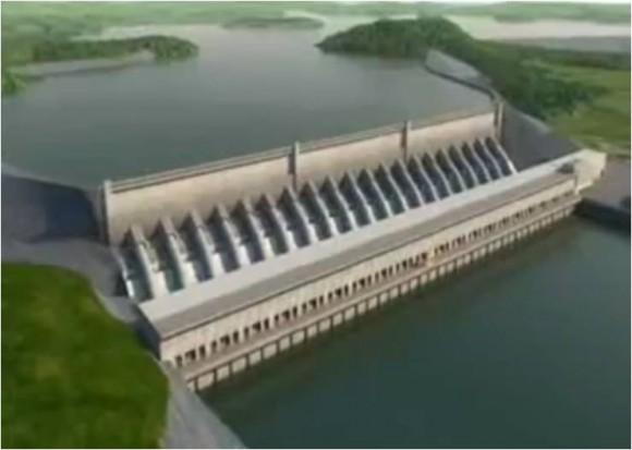 Vodní elektrárna na řece Xingu má plánovaný výkon 11 233 MW. Zdroj: wikipedia.en.com, (c) Eletrobras
