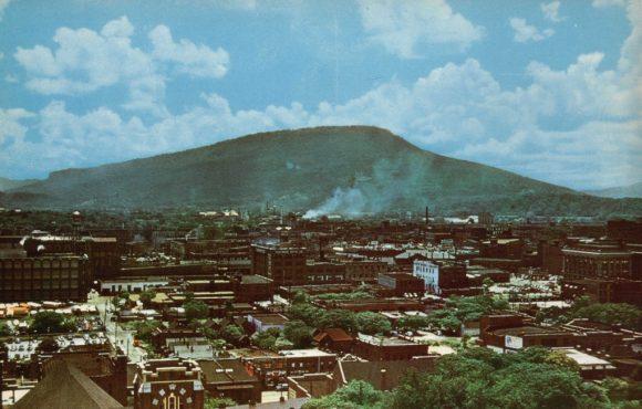 """""""Pohled na město Chattanooga v padesátých letech."""" Zdroj: Brent Moore"""
