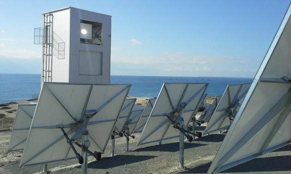 """""""Solárně termální zařízení u kyperského Pentakomo."""" Zdroj: CSIRO"""