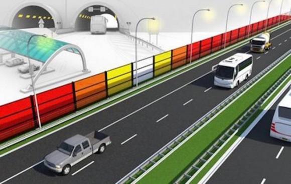 """""""Jeden kilometr protihlukové stěny by dokázal pokrýt spotřebu padesátky domácností."""" Zdroj: EindhovenUniversity"""