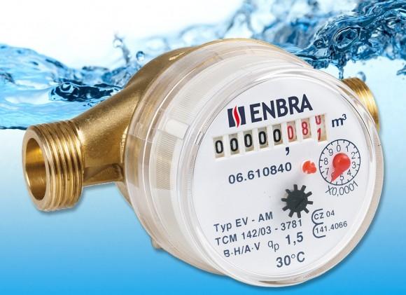 Suchoběžný vodoměr značky ENBRA. foto: ENBRA