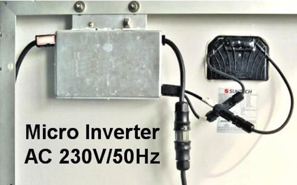 Základem GridFree instalace je solární panel s MikroInvertorem, foto: i4wifi