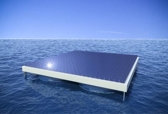 """""""Rozbouřené vlny moře by měl celý systém hladinové solární elektrárny ustát bez nehody."""" Zdroj: UT Wien"""