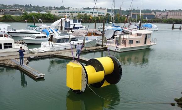 Hydrovolts - jednoduše instalovatelná vodní turbína, foto: Hydrovolts