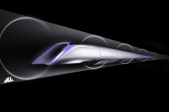Takhle si Elon Musk představuje budoucnost meziměstské dopravy na střední vzdálenosti: nadzvukový Hyperloop. foto: Elon Musk/Hyperloop