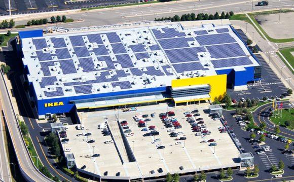 """""""Střešní solární elektrárny se do roku 2020 stanou na provozovnách IKEA samozřejmostí."""" Zdroj: Inhabitat.com"""