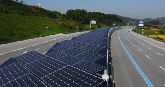 Na obrázku solární elektrárnou pokrytá cyklostezka v Jižní Koreji. Budou se Britové inspirovat?