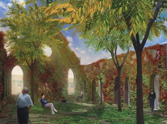 Pietně rekonstruovaný objekt se stane součástí nového zeleného městského centra Saint Luis. Zdroj: Gluckman Mayner