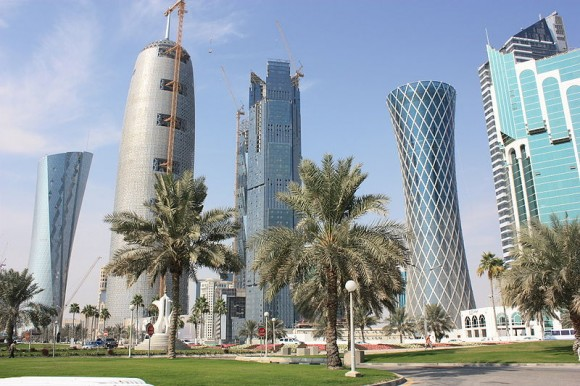 Mrakodrapy na západní břehu Kataru, foto: Kangxi emperor6868, licence Creative Commons