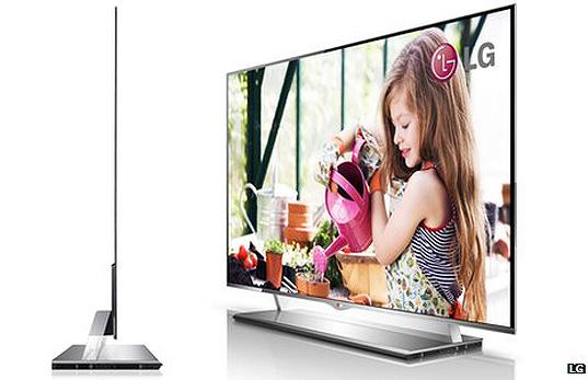 OLED TV LG Cinema 3D Smart TV, nejtenčí televize na trhu, foto: LG