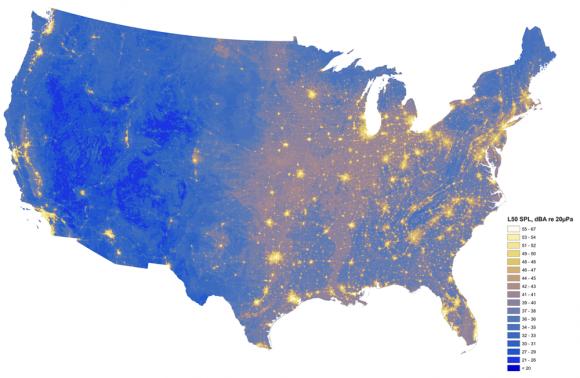 """""""Každý den jsme vystaveni několikanásobnému hlukovému znečištění, než jaké je přirozené přírodní zvukové pozadí."""" Zdroj: NPS"""