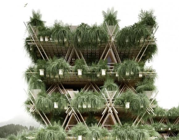 Je to město nebo prales? Obojí! foto: Penda Bambus