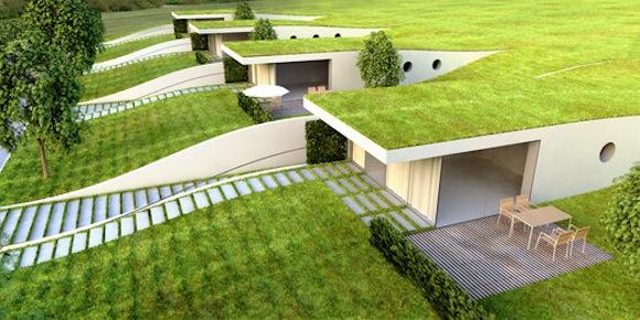 Vily nové podhorské rezidence Hrádeček připomínají terénní vlnu. foto: DRNH