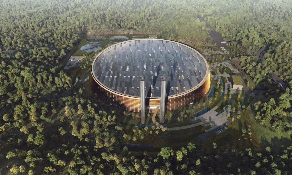 """""""Zařízení má být schopno zlikvidovat 5000 tun odpadu za jediný den."""" Zdroj: Schmidt Hammer Lassen Architects"""