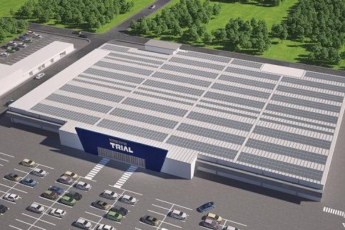 Vizualizace budoucí podoby supermarketů Trial.