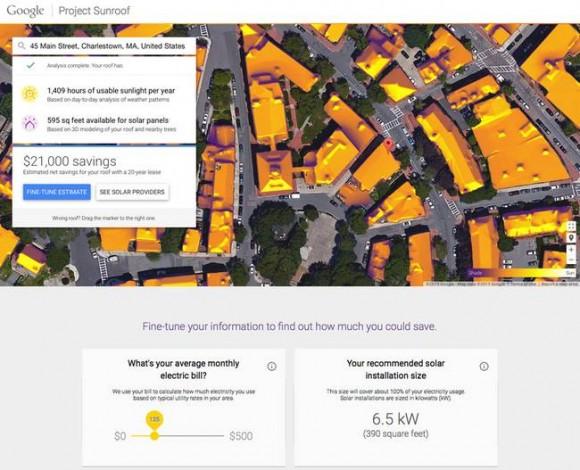 """""""Google vám to prostě spočítá."""" Zdroj: Project Sunroof"""