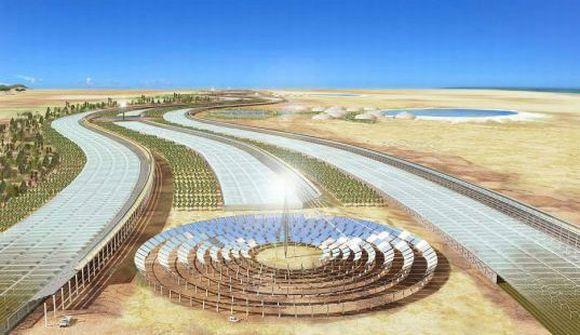 Vize koncentrační solární elektrárny na Sahaře