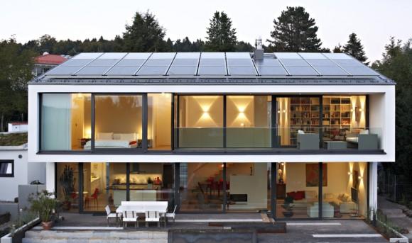 Energeticky soběstačný rodinný dům z Německa, foto: Schuco