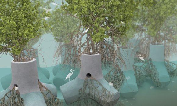 """""""Není to jen o tvorbě obrany pobřeží, ale o tvorbě celých ekosystémů."""" Zdroj: Sheng-Hung Lee"""