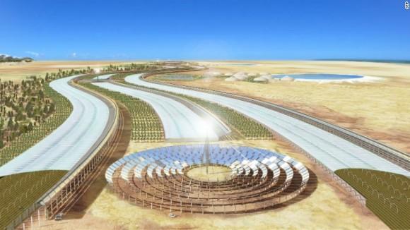 """""""Tunis by se mohl dočkat další revoluce. Tentokrát energetické."""" Zdroj: Sahara Forest Project"""