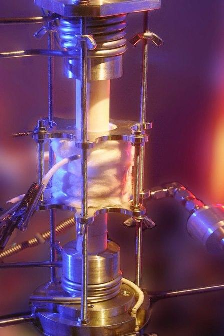 """""""Reaktor pro fotochemické uskladnění energie v systému.""""  Zdroj: TU Wien"""