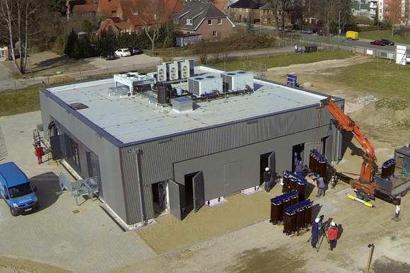 Baterie o kapacitě 5 MWh německé společnosti Wemag AG. foto: Younicos AG