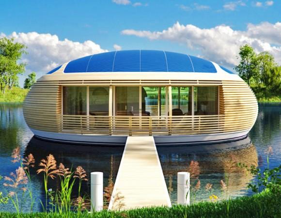 """""""Plovoucí Vodní hnízdo, to je romantika, uklidňující kouzlo vodní hladiny i ekologické obydlí."""" Zdroj: EcoFloLife.com"""
