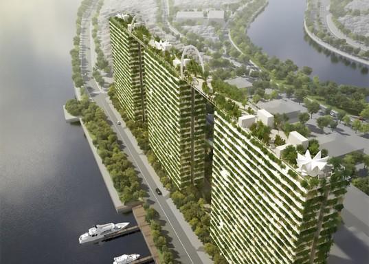 """""""Schéma, dle kterého vsýtavba nové budovy automaticky likviduje zeleň okolo, je možné změnit."""" Zdroj: VTN"""
