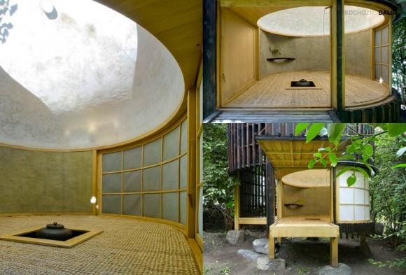 Čajový dům jako typologický druh navazuje na japonskou tradici minimalizace prostoru a je určen pro setkání s hosty nad šálkem čaje. foto & text: A1 architects