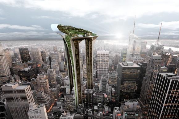 Mrakodrap Acacia Tower navržený architektem Petrem Pospíšilem ze studia KYZLINK