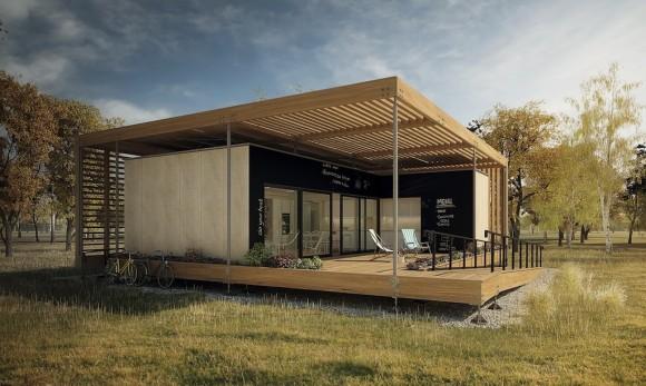 AIR HOUSE - soutěžní dům - levné, ekologické a šetrné bydlení. foto: AIR HOUSE