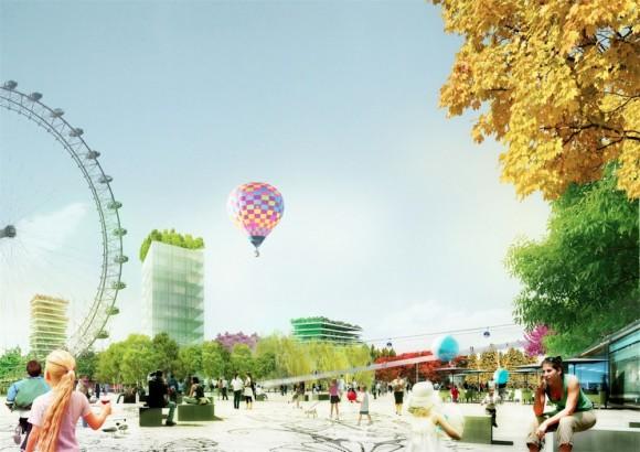 Almere roku 2022 vypadá jako skutečný ráj na zemi. Podaří se ale návrh realizovat? Zvítězí vůbec město v soutěži o místo konání květinové výstavy? foto: MVRDV