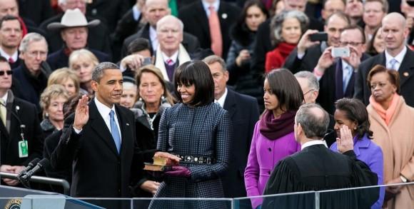 Barack Obama, znovuzvolený prezident USA, při své druhé inauguraci, foto: whitehouse.gov