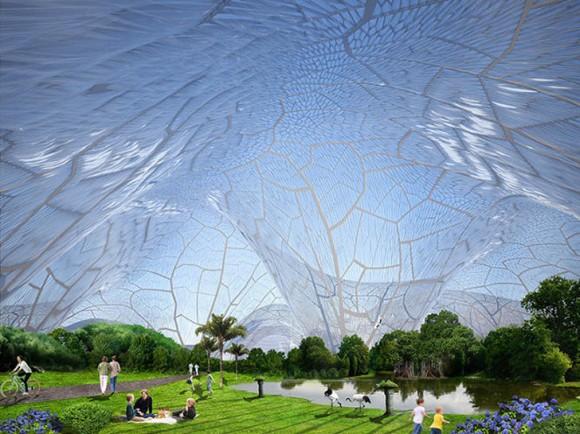 Projekt obřích průhledných bublin by se mohl brzy stát realitou ve smogem zamořeném Pekingu. foto: Orproject