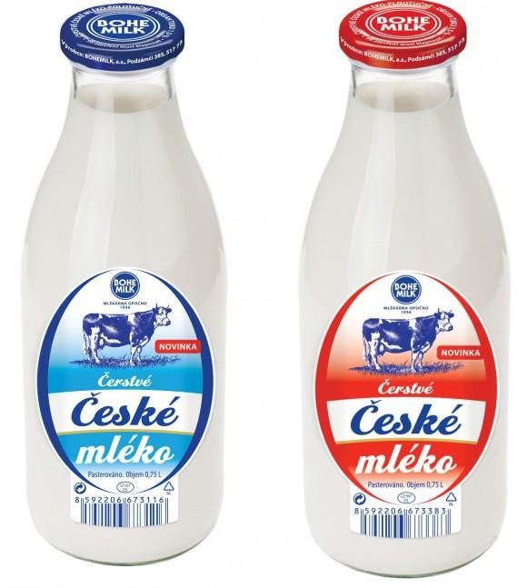 Čerstvé české mléko ve skle, foto: BOHEMILK, a.s.
