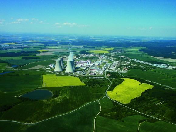 Jaderná elektrárna Temelín, letecký pohled. foto: ČEZ
