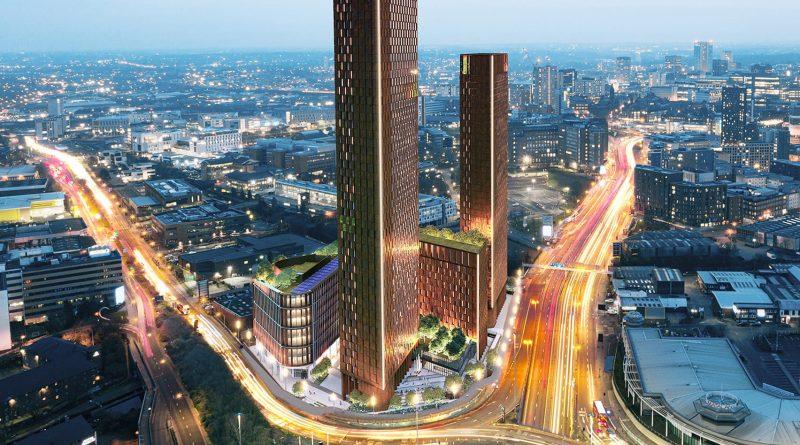 Komplex bude vybudován hned u vjezdu do městského centra Birminghamu. foto: Associated Architects