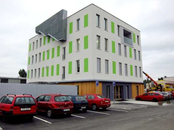 domy pasivní administrativní budova Intoza Ostrava Česká republika