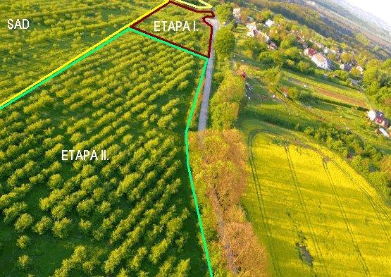 Pozemky pro budoucí ekologickou vesničku u Sychrova, foto: sady.unas.cz