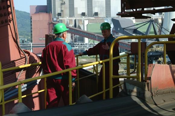 Fotografie společnosti ČEZ zachycuje obnovu uhelné elektrárny Prunéřov v České republice, foto: ČEZ