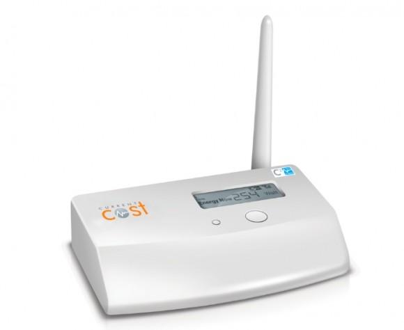 Brána propojující snímače energomonitoru s internetem. Zapojuje se přes ethernetový kabel (RJ-45) a je vybavena displejem, který zobrazuje aktuální spotřebu elektřiny pro okamžitou kontrolu. foto: energomonitor.cz