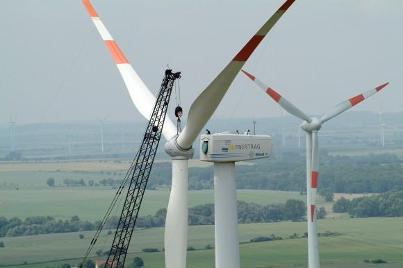 Enertrag - větrná turbína elektrárna vyrábějící vodík. foto: Enertrag