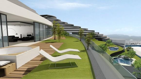 Mrakodrap Acacia Tower navržený českým architektem Petrem Pospíšilem, obrázek: KYZLINK