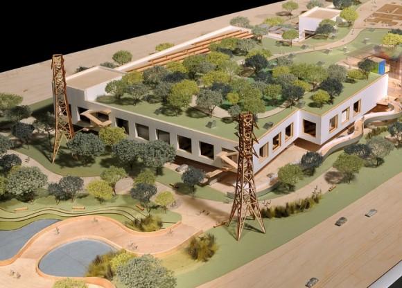 Část nového zeleného kampusu společnosti Facebook, která provozuje největší sociální síť na světě. foto: Frank Gehry/Gehry Partners